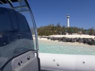 Blue lagoon taxi-boat